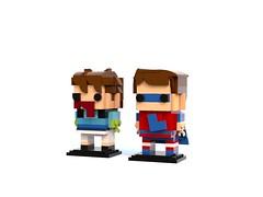 Captain Literally and Scott Sterling Brickheadz
