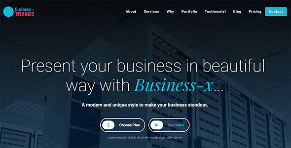 Business-x WordPress Theme free download