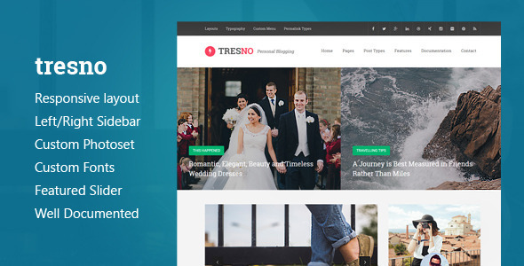 Tresno – Personal Blog Tumblr Theme