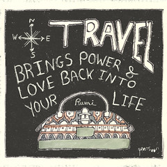 Hand-Lettering: Rumi Travel Quote