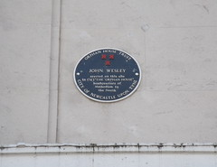 Photo of John Wesley and The Orphan House black plaque