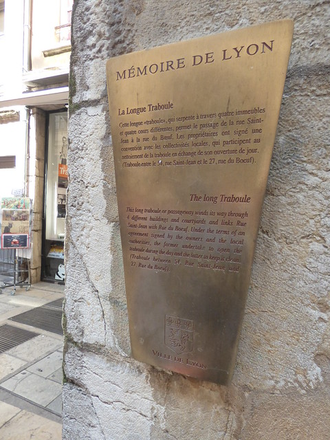 Photo of La Longue Traboule brushed metal plaque