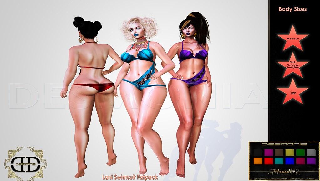 LANI SWIMSUIT FATPACK - SecondLifeHub.com