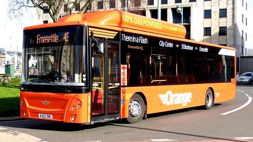 AU62 DWG 'Plymouth Citybus' No. 702 'Orange Flash' MAN 18.270 EcoCity / Caetano on 'Dennis Basford's railsroadsrunways.blogspot.co.ukG 702