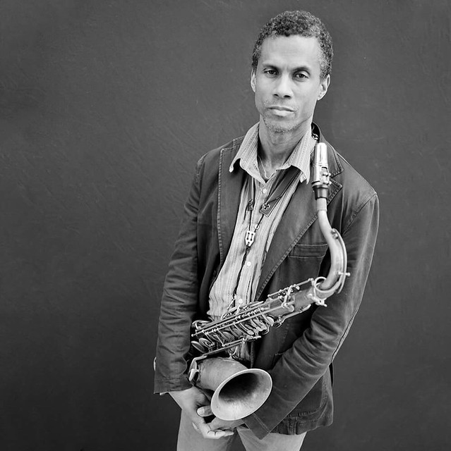 Mark Turner 2017  The legendary saxophonist photographed near hi home in Brooklyn. Shot with Delta 100