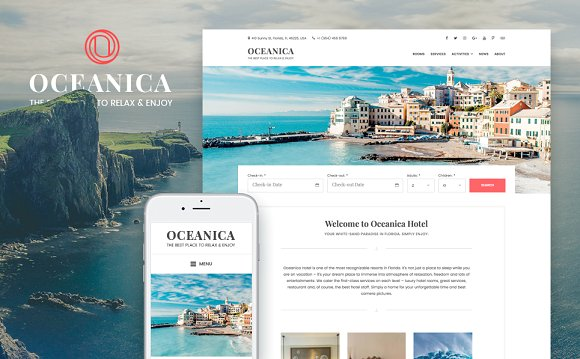 Oceanica v1.0.0 – Hotel Booking Theme