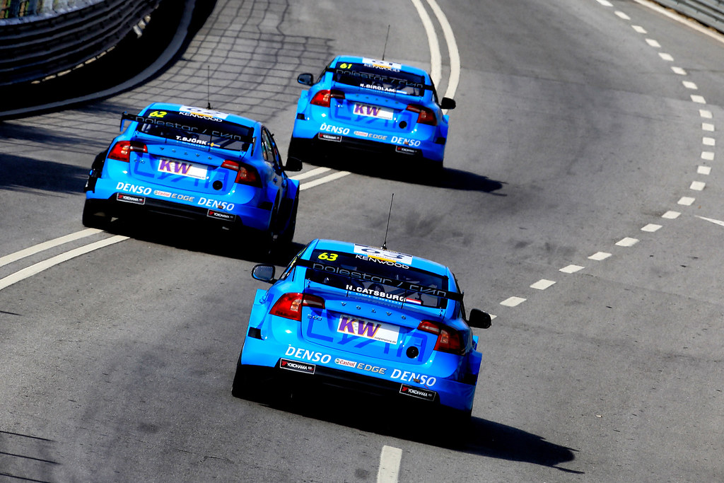 63 CATSBURG Nicky (ned) Volvo S60 Polestar team Polestar Cyan Racing action 62 BJORK Thed (swe) Volvo S60 Polestar team Polestar Cyan Racing action 61 GIROLAMI Nestor (arg) Volvo S60 Polestar team Polestar Cyan Racing action during the 2017 FIA WTCC World Touring Car Championship race of Portugal, Vila Real from june 23 to 25 - Photo Paulo Maria / DPPI