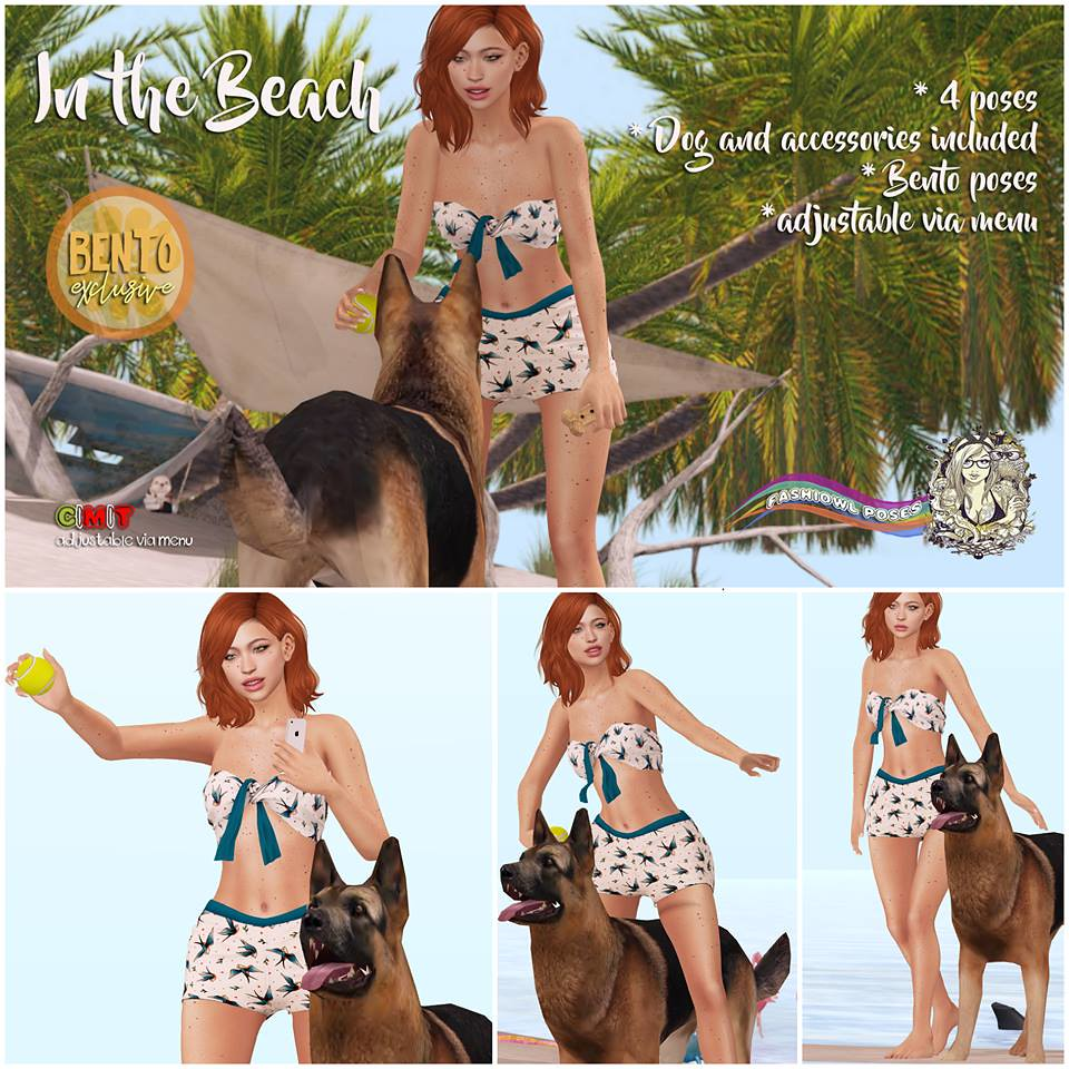 =fashiowl poses= In the Beach - SecondLifeHub.com