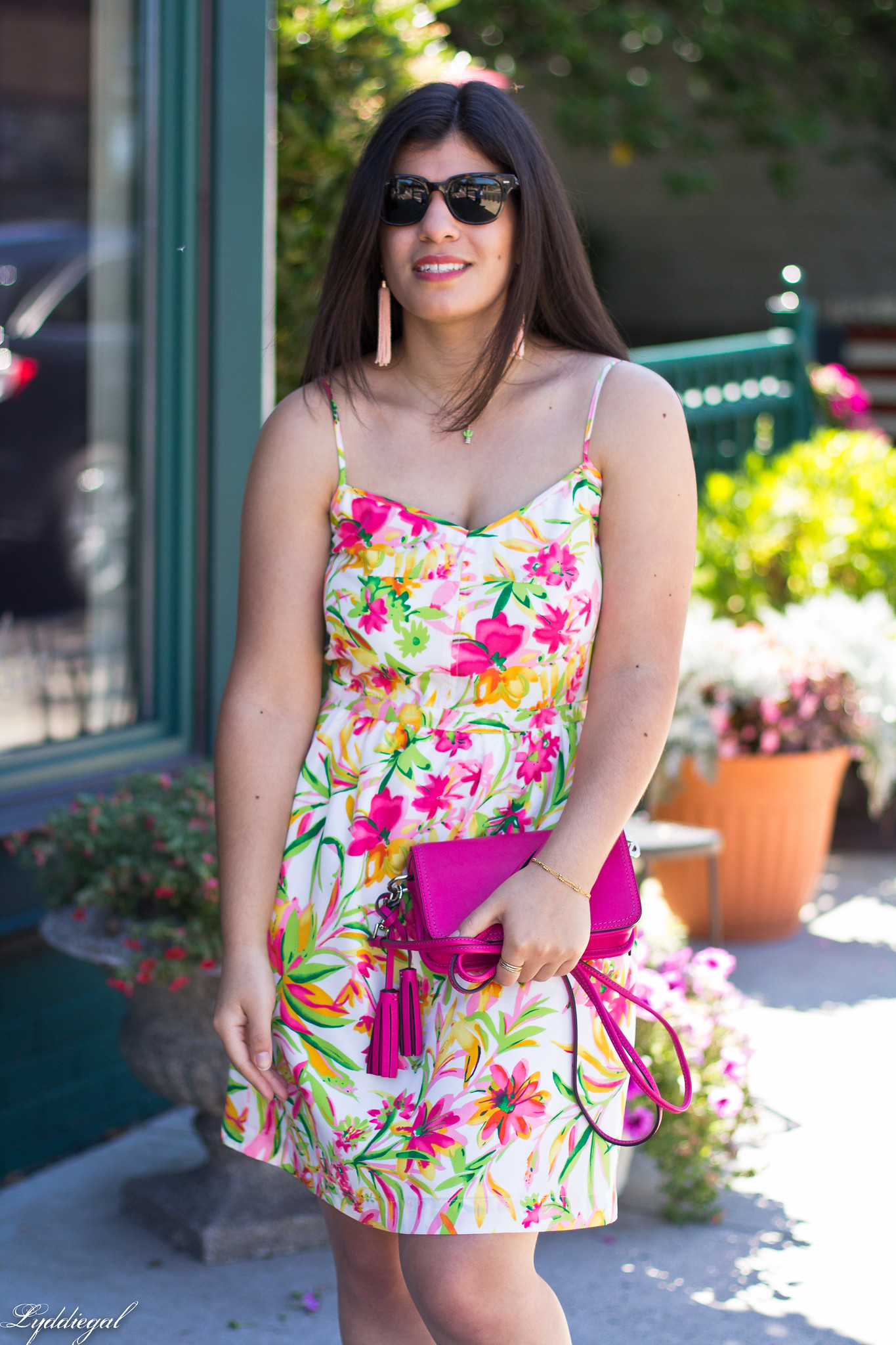 floral cami dress, pink coach bag, platform espadrilles-6.jpg