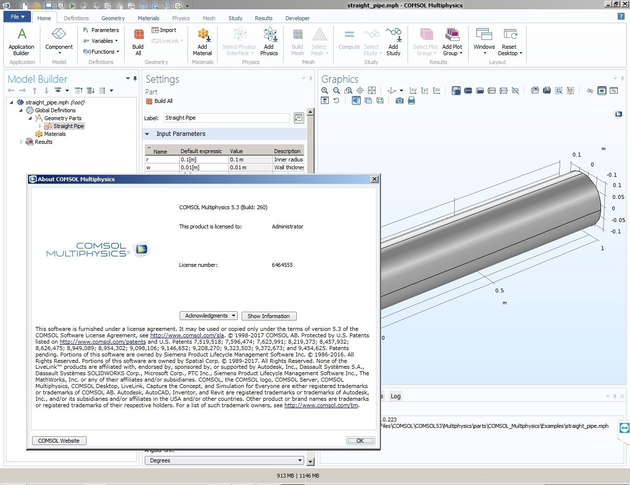 Working with Comsol Multiphysics 5.3 Build 260 full crack