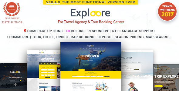 EXPLOORE v4.2 – Tour Booking Travel WordPress Theme