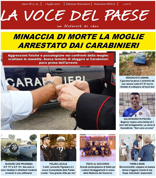 Noicattaro. Prima pagina n.25-2017 intero