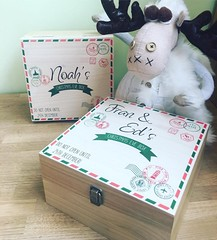 Personalised Letter and Stamps Christmas Eve Box