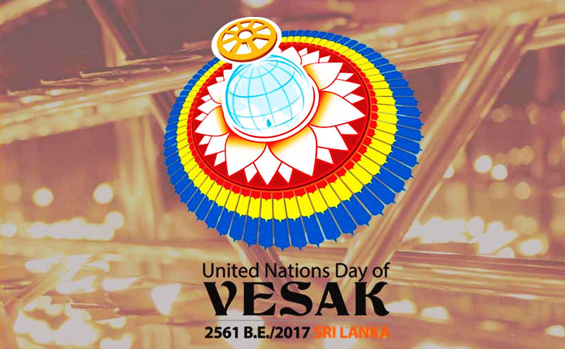 Logo Hari Vesak PBB Ke-14 di Sri Lanka.