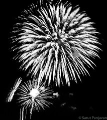 The Black And White of The Kaboom Town Fireworks