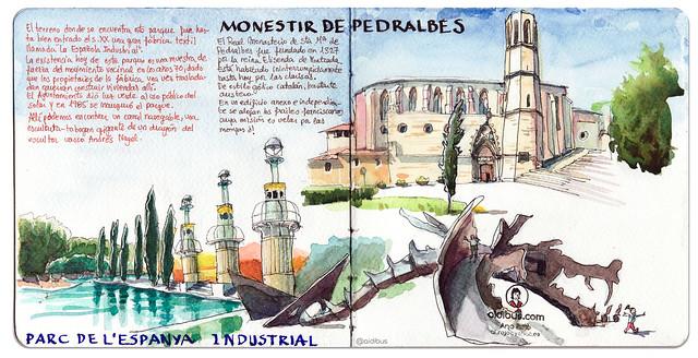 Parque de la España Industrial y Monasterio de Pedralbes