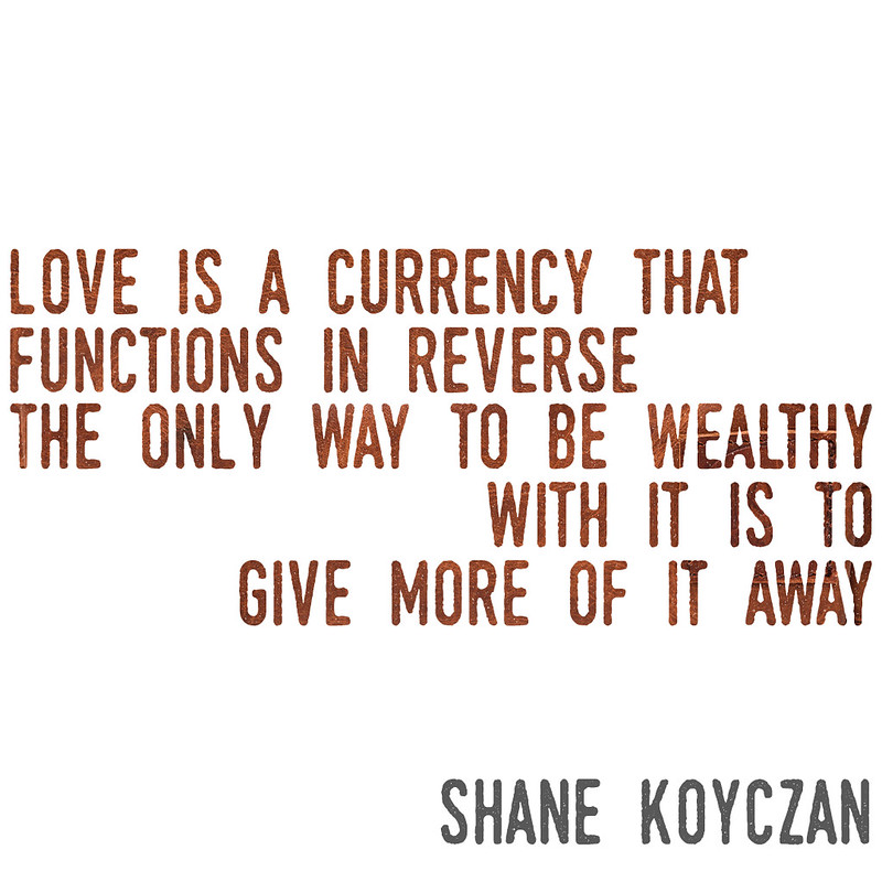 Love and Wealth: Inspirational Quote