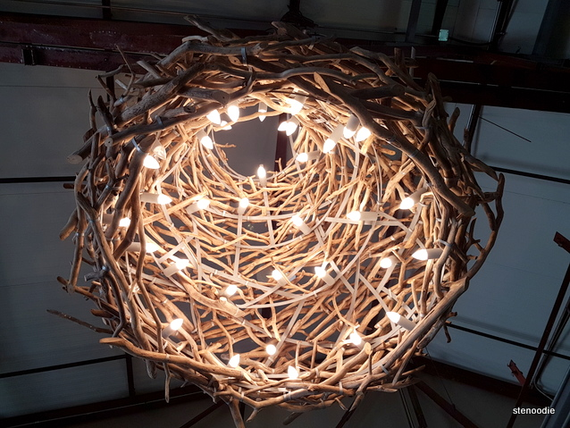 Lights that look like a nest