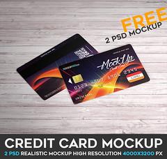 Credit Card ? 2 Free PSD Mockups