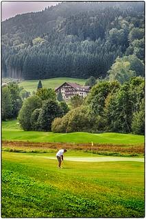 Einsamer Golfer  in HDR