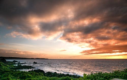 sunset coast taiwan newtaipeicity shimen 台灣 新北市石門區 northcoast 北海岸 日落 夕陽
