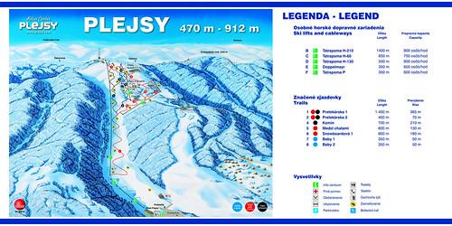 Krompachy - Plejsy - mapa sjezdovek