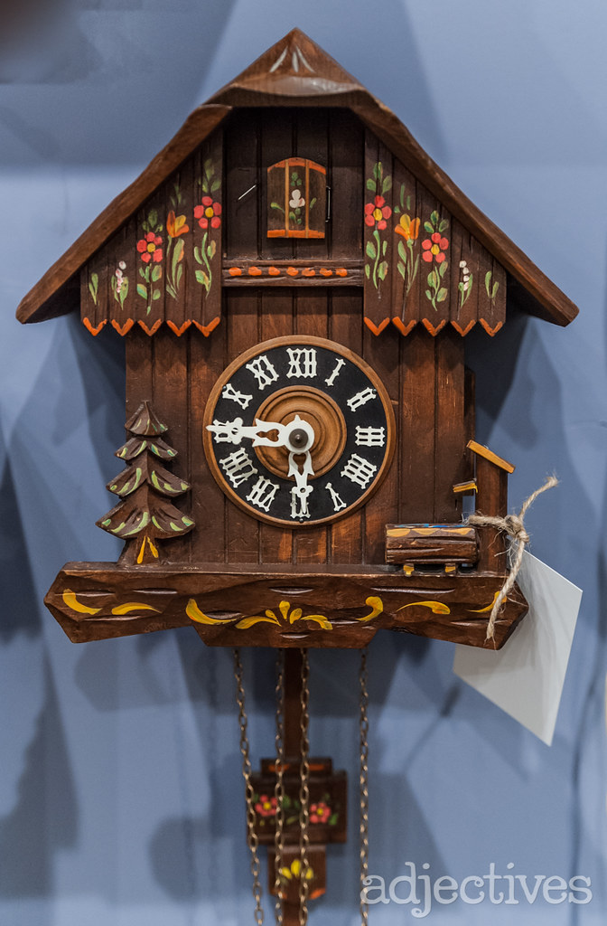 Vintage Cuckoo Clock at Adjectives Winter Garden