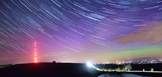 Startrails caldbeck aurora