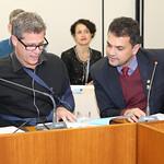 qua, 12/07/2017 - 13:56 - Da esquerda para direita: Vereador Léo Burguês de Castro e vereador Orlei Local: Plenário Camil CaramData: 12-07-2017Foto: Abraão Bruck - CMBH