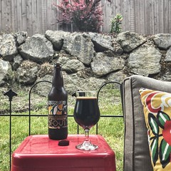 Filled the gray afternoon with a bunch of outdoor chores so figured a booming Impy Stout was in order when I was done. @hoppinfrogbrewery DORIS kept me warm on this chilly late spring afternoon.