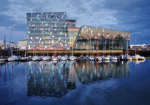 reykjavik iceland harpa concerthall harpaconcerthall night bluehour color colorful blue cloud cloudy dusk outdoor sony sonya7 a7 a7ii a7mii alpha7mii ilce7m2 fe2870mmf3556oss 1xp raw photomatix hdr qualityhdr qualityhdrphotography reflection waterreflection water yacht harbor yachtharbor fav200