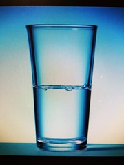Is the glass half full or half empty? Answer: #neither #norightanswer #perspective #history