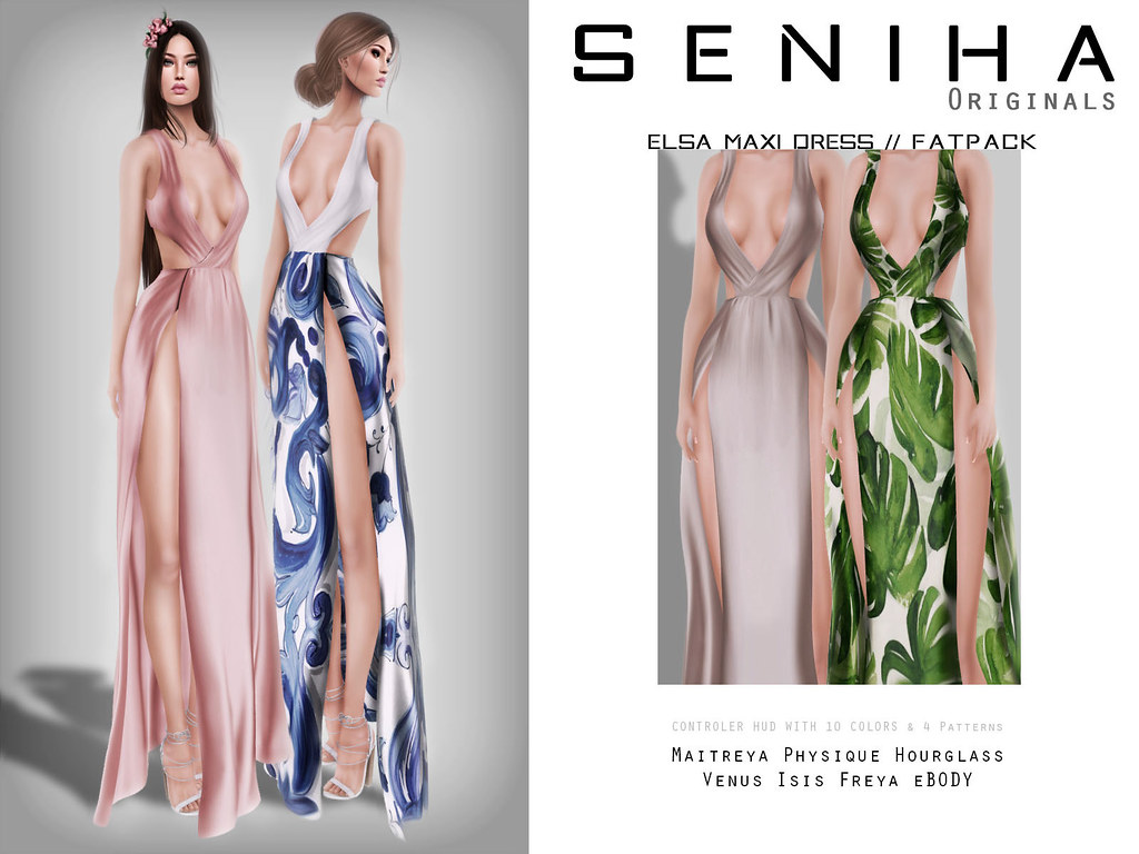 Seniha. Elsa Maxi Dress // Fatpack - SecondLifeHub.com
