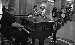 Tickling the ivories - Amsterdam Central Station