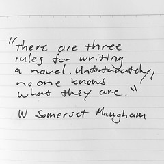 """""""There are three rules for writing a novel. Unfortunately, no one knows what they are."""" #WSomersetMaugham #somersetmaugham #writing #writersofinstagram #quotes #novels"""