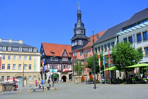 thüringen eisenach marktplatz marketplace rathaus townhall stadt city ivlys