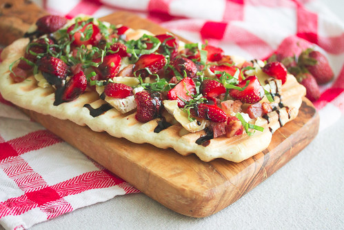 Grilled Berry Camembert Flatbread