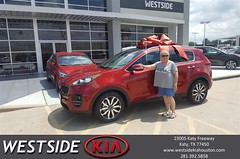 Congratulations Diana on your #Kia #Sportage from Antonio Page at Westside Kia!