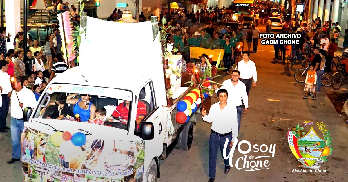 Festividades julianas en Chone inician con un pregón este sábado