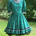 Rockabilly Green Square Dance Dress