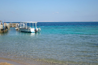 A view from the beach on the Red Sea, Hurgada, Egypt