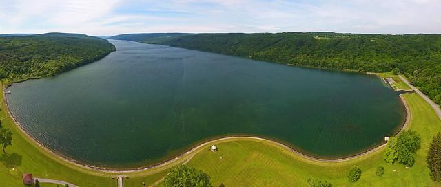 Hemlock Lake Aerial Pano
