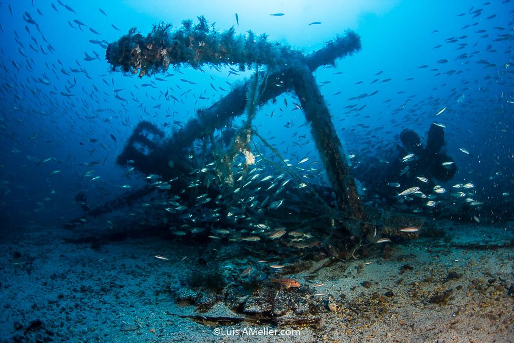wreck diving menorca