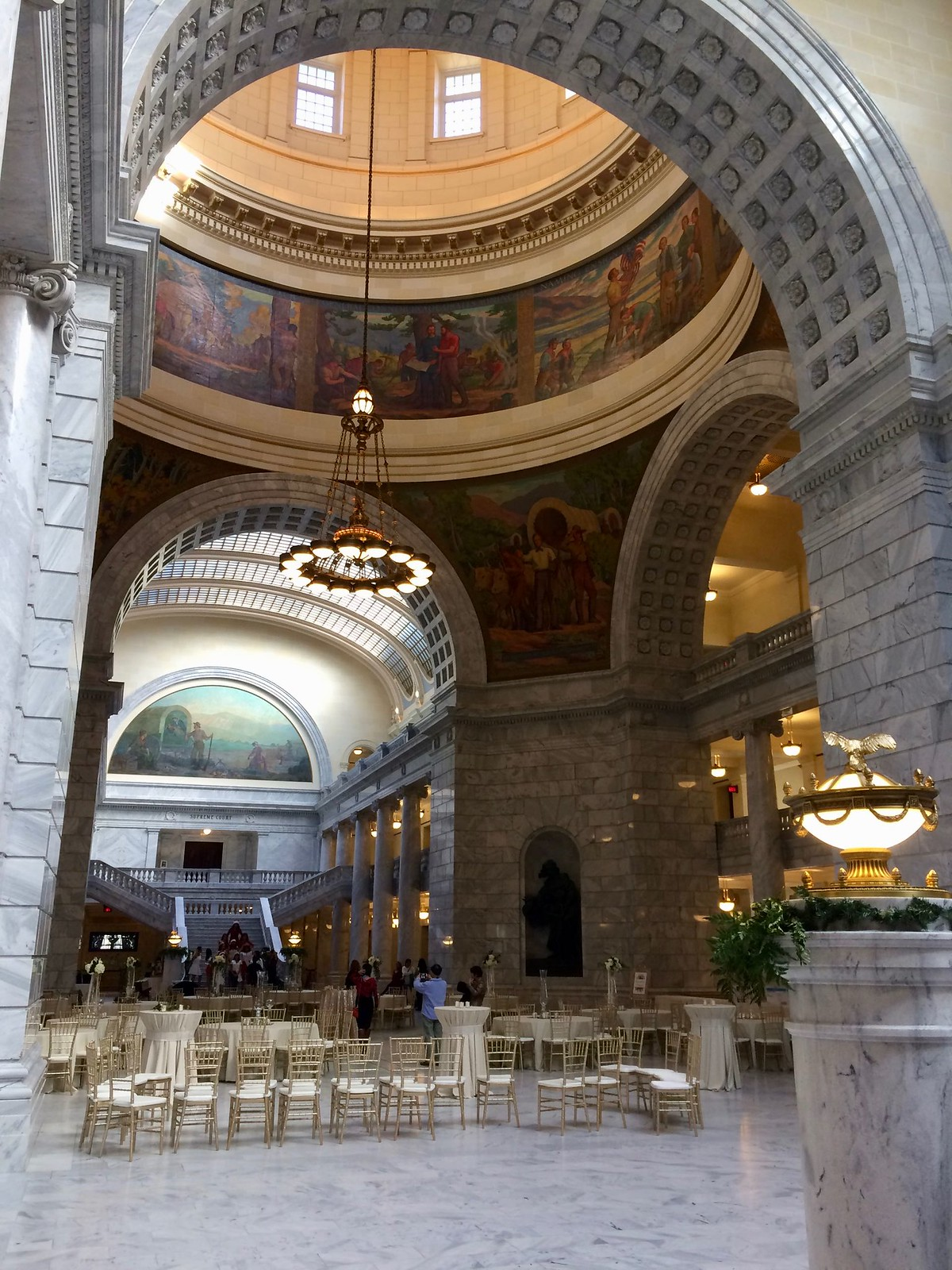 Under the Rotunda at the Utah State Capitol