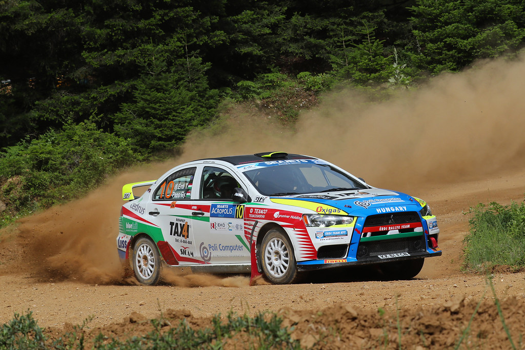 10 TIBOR Erdi JR (hun) and PAPP George (hun) action during the European Rally Championship 2017 - Acropolis Rally Of Grece - Loutraki From June 2 to 4 in Loutraki - Photo Gregory Lenormand / DPPI
