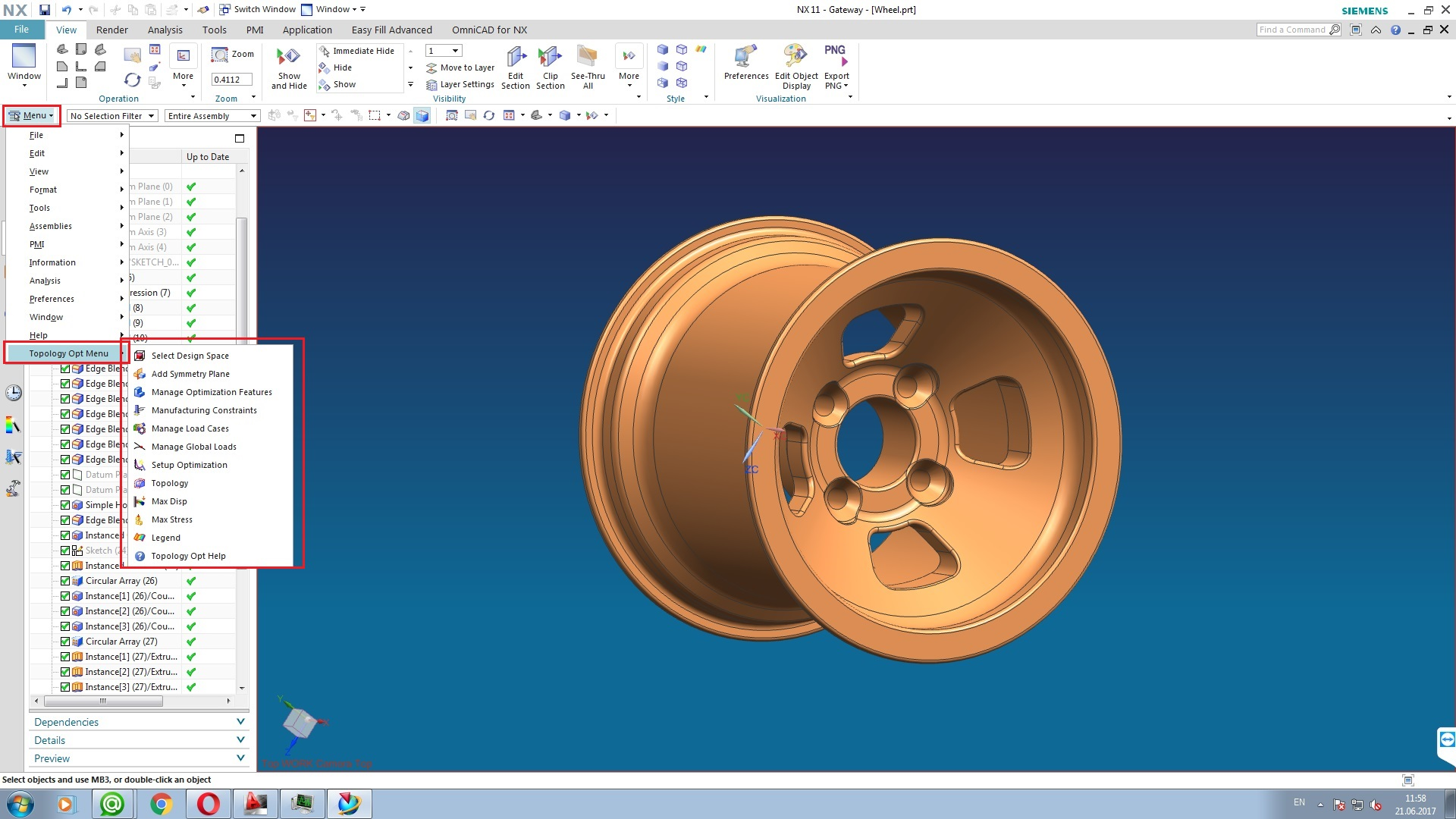 Design with Siemens NX 11.0 Topology Optimization for Designers full