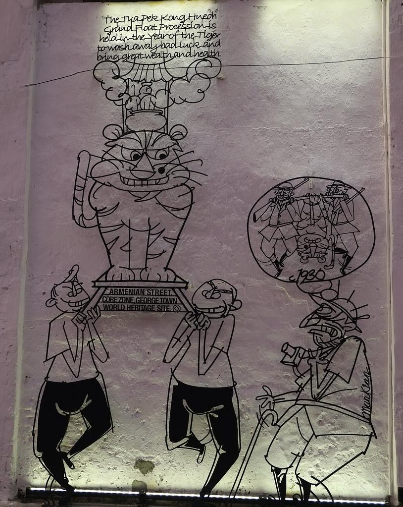 Cartoon Style Mural, Georgetown, Penang