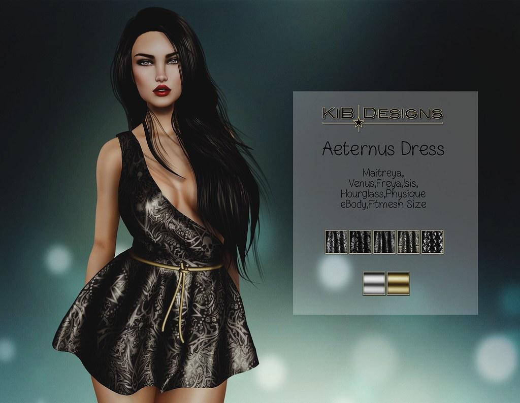 KiB Designs - Aeternus Dress @The Darkness Event - SecondLifeHub.com