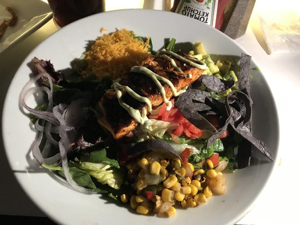 Chili-Lime-Salmon Fajita Salad ($16.50)