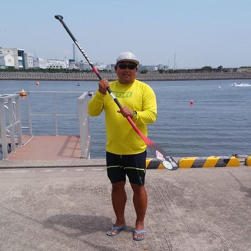 漕ぎ方を教えてもらいました。 #マリンカーニバル #ヤマハマリン #若洲ヨット訓練所